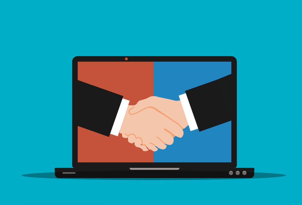 laptop, handshake, agreement-6081424.jpg